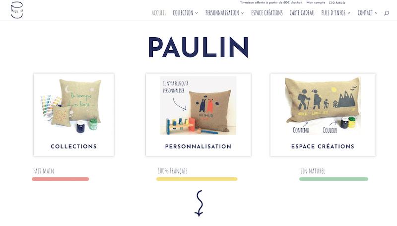 Développement de la boutique en ligne Paulin