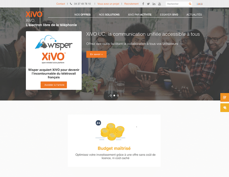 Développement version anglaise Xivo